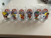 Set of 6 Mickey Mouse collector glasses. Brampton, L6S 4X6