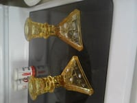 Two Amber candle holders. VINTAGE TIARAWARE Richfield Township, 48656