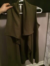 M Boutique, olive throw over  Toronto, M5T