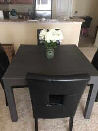 Grey Dining Table with 4 Leather Chairs Virginia Beach, 23464