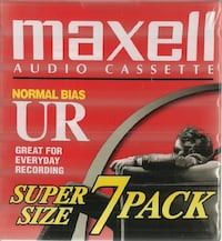 NEW Maxell 7 Pack UR 90 Sealed Blank Cassette Tapes Pick-up in Newmark