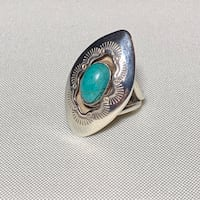 Sterling Silver & Turquoise Shadow Box Ring Ashburn, 20147