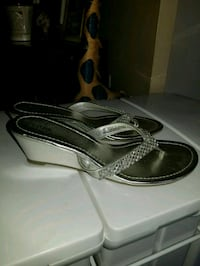 Womans wedge sandles Brand New (Silver )