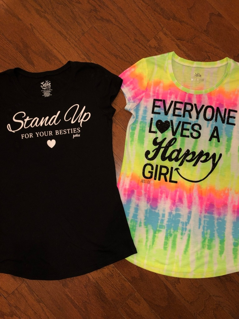 Photo 2 sz 14 JUSTICE Girls Tees w/ Graphics