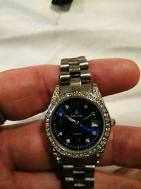 round silver-colored Rolex analog watch with link bracelet Fenton, 63026