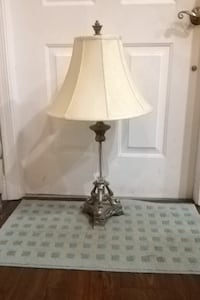 30 high by 17 inches at widest point of cream shade it's $10 each or by both lamps for $18 Boynton Beach, 33437