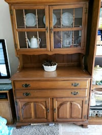 brown wooden cabinet with hutch Omaha, 68134
