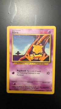 Abra Base Set 43/102 Pokémon Card  Oakville, L6H 5N3