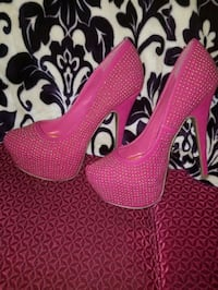 pair of pink platform stilettos Germantown, 20874