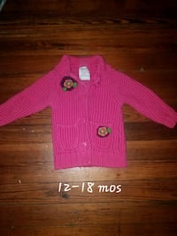 Pink button-up sweater Baltimore, 21206