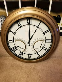 "24"" Bronze in/door out/door clock by frontgate"