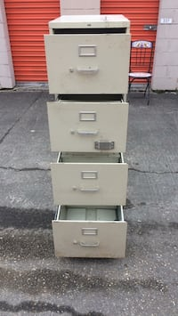 White metal 4 drawer filing cabinet lock bolt not included.