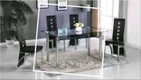 Marble Table Black New with 4 Chairs Brand New Silver Spring, 20906