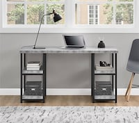 **Ashlar Desk, Gray faux-concrete  (Back To School Special)  Houston, 77092