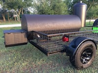 Large Custom BBQ Pit Smoker on HD Trailer  Converse, 78109