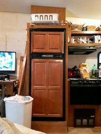 brown wooden TV hutch with flat screen television Waldorf, 20603