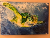 Original Sea Turtle Painting Madison