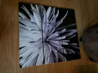 black and white abstract painting North Vancouver, V7M 2M3