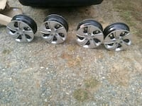 four chrome 5-spoke car wheels Lexington, 27295