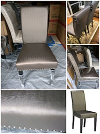 Brown Leatherette dinning chair. Brand new inbox. Markham