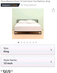 King size mattress Olney, 20832