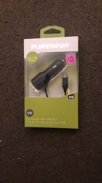 black and gray Pure Gear car charger package Toronto, M6L 1B1