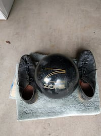 Mens Bowling Ball and Shoes null