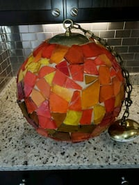 red and yellow stained glass pendant lamp Oak Park, 60302