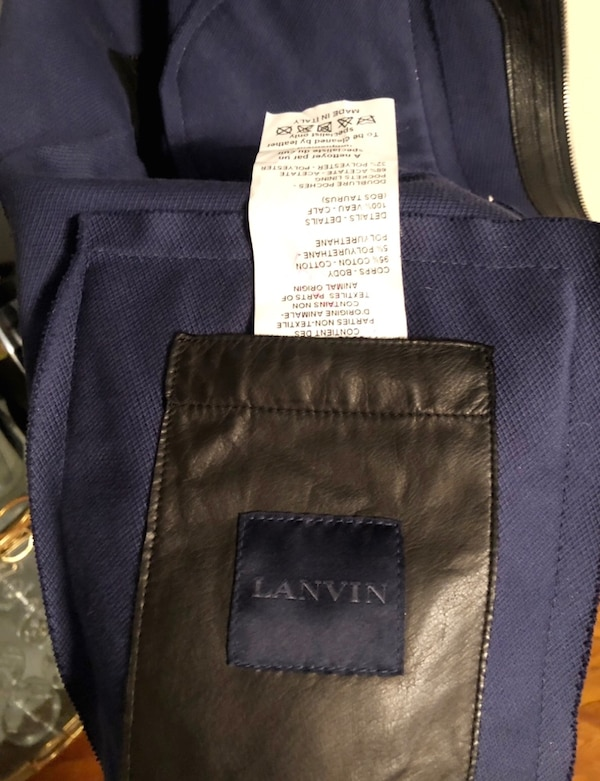 Men's Lanvin biker jacket size 52 (XL) leather paid $3,800 excellent condition. Only worn twice! 2bb4fe7d-93ef-411f-b11e-4d9724cbba2a