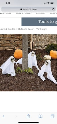 Ghost Yard Stakes Halloween Decoration Stephens City, 22655