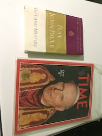 Pope John Paul 2 Gift and Mystery book and Time Magazine Salina, 67401