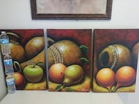 3-panel fruit and jar painting wall art Compton, 90220