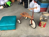 Vintage items (tricycle, foot stool, gumball machine) Surrey, V3S 1S2