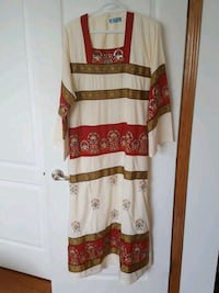 white and brown floral long sleeve dress Calgary, T3E 6T4