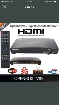 Black Openbox V8S digital satellitmottagare skärmdump