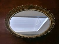 oval brown wooden framed mirror Stockton, 95205