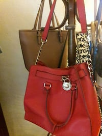 women's red leather tote bag Lakeland, 33801