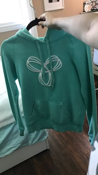 Green and white pullover hoodie Oakville, L6L 6S6