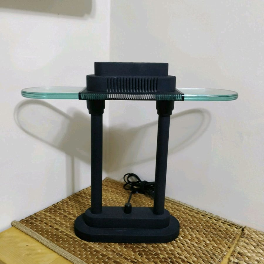 Heavy Glass and Metal desk lamp