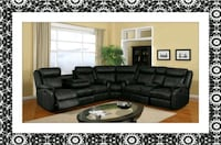Cshape sectional black leather free delivery Alexandria, 22305