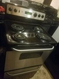 black and gray electric coil range oven Temple Hills, 20748