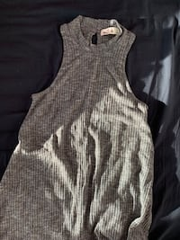 Hollister Ribbed Gray Mock Neck Dress