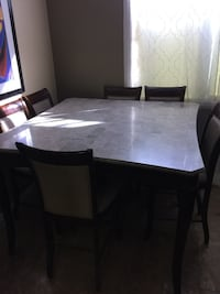 Marble table with six chairs dining set Henderson, 89074