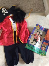 Pirate Halloween costume size 4-6 Bear, 19701