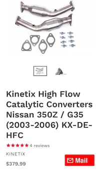 Kinetic high flow catalytic converters  Smyrna, 37167