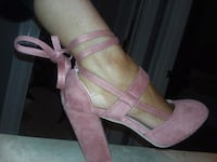 BRAND NEW Suede blush pink lace up pumps  Lebanon, 37087