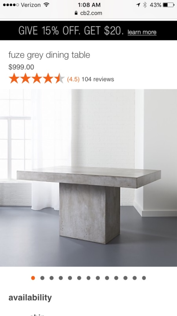 Outstanding Cb2 Fuze Dining Table Bench Cushion Perfect Condition Caraccident5 Cool Chair Designs And Ideas Caraccident5Info