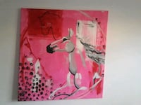 pink and white abstract painting West Palm Beach, 33409