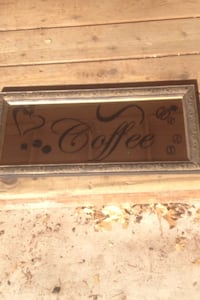 Mirror with coffee decal 2301 mi