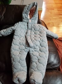 Baby cozy snow suit 6 - 9 months